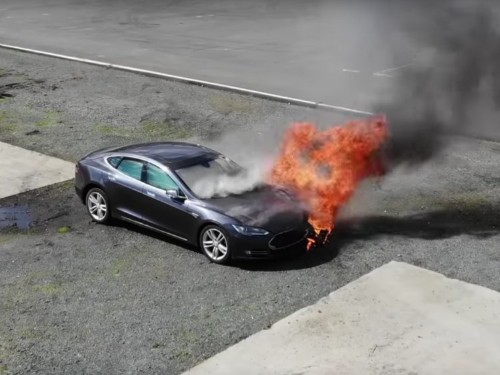 Tesla facing scrutiny for car fires, but ICE cars are also dangerous