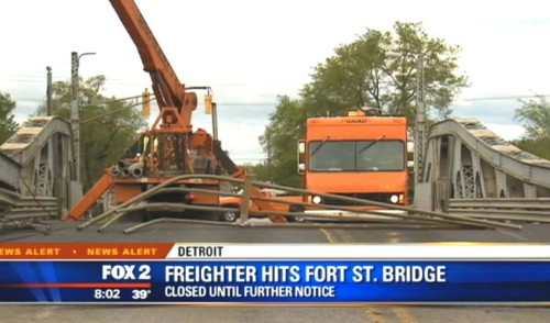 Possibly Intoxicated Drawbridge Operator Hits Passing Freight Ship