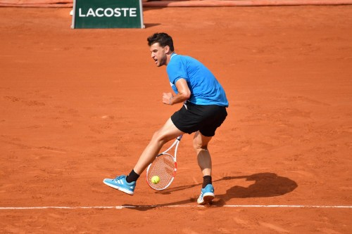 French Open: Watch Dominic Thiem's winning tweener against Gael Monfils
