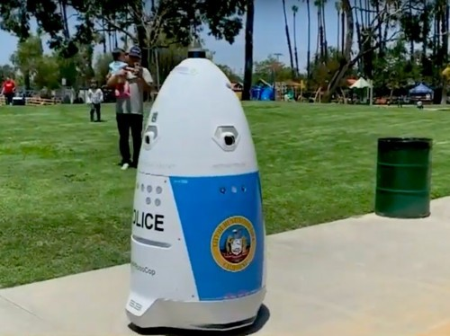 A US police force has deployed an egg-shaped robot to patrol a park, and Elon Musk is skeptical