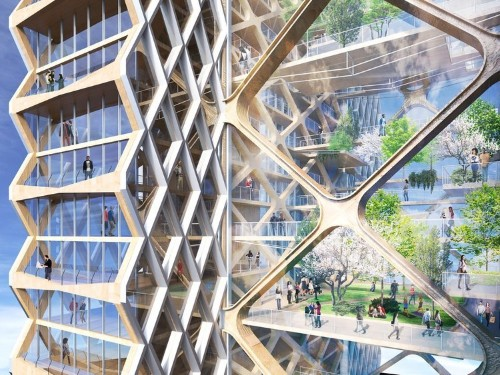 Architects want to build an 80-story skyscraper in Chicago made entirely from wood — take a look