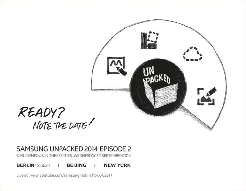 Samsung Will Unveil Its New Phablet On September 3