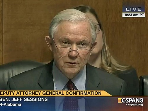 2015 video shows Jeff Sessions asking Sally Yates if she would say no to the president if he asked for something 'improper'