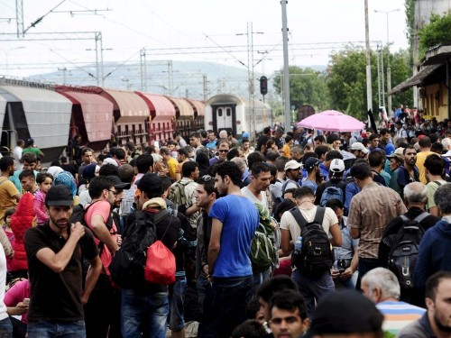People are rioting against the arrival of refugees in eastern Germany