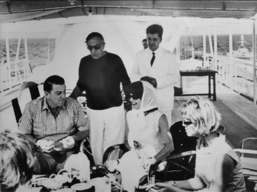 Vintage photos show what parties on Jackie O's iconic yacht were like