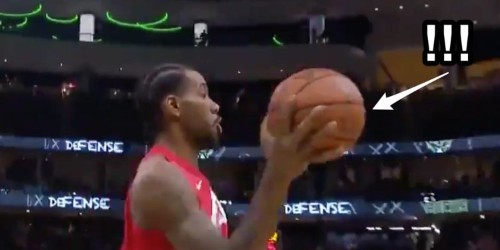 Kawhi Leonard made a subtle move that defied physics against the Bucks