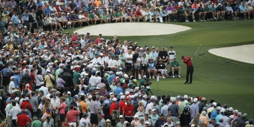 The golf world hadn't seen anything like the crowd waiting for Tiger Woods at his final hole at the Masters