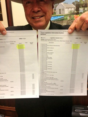 #TIMESTAMPGATE: After A Crazy Night, This Photo Helped Kill A Controversial Texas Abortion Bill