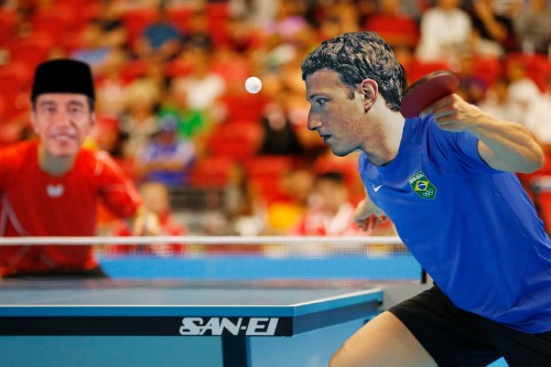 Mark Zuckerberg and the president of Indonesia played ping pong in virtual reality together