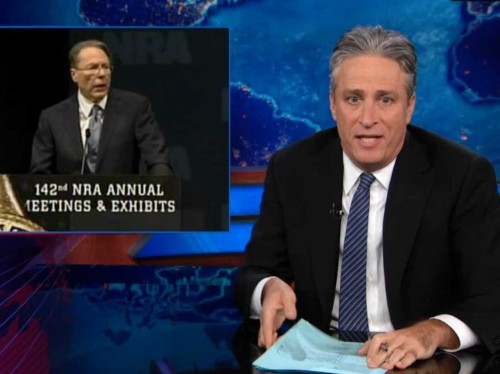 Jon Stewart Eviscerates The NRA Over Blatant Contradictions At Its Convention