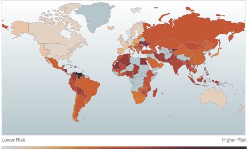 MAPPED: Countries with the greatest resilience to terrorist attacks and low oil prices