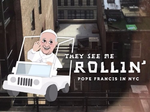 Snapchat has a hilarious filter for the pope's visit to New York City