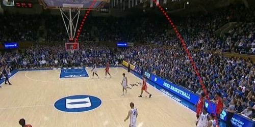 Syracuse's upset of top-ranked Duke included an unbelievable 75-foot shot to beat the first-half buzzer