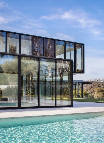 There's a $30 million glass mansion in Silicon Valley, located 15 minutes from Facebook's HQ — take a look inside