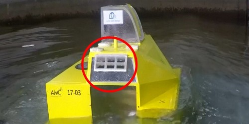 This wave power device works like an artificial blowhole to harvest renewable energy