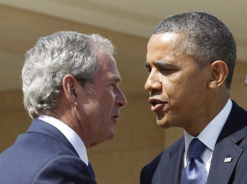 George W. Bush just sharply criticized Obama for the first time
