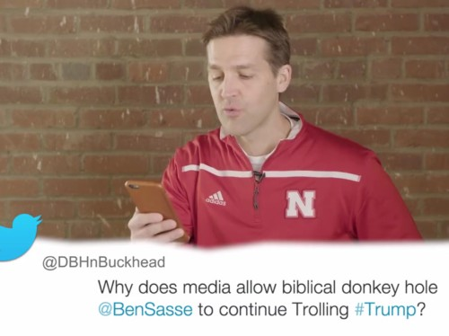 Republican senator reads hilarious 'mean tweets' from Donald Trump supporters