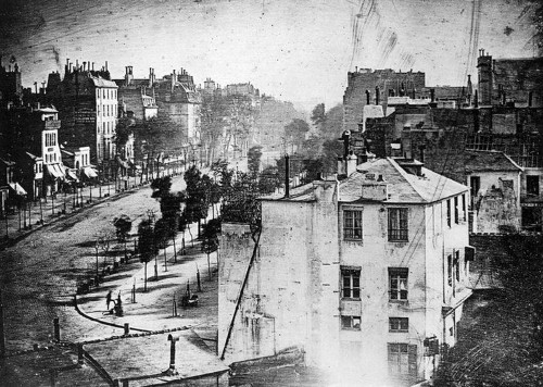 The First Picture Of People — From 1838