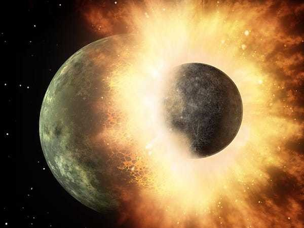 New research suggests the moon formed from several large impacts - Business Insider