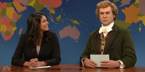 1860s Movie Critic Jebidiah Atkinson Slams Oscars During Colin Jost's 'Weekend Update' Debut