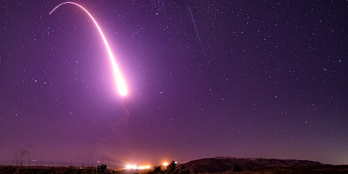 Air Force Global Strike Command tests ICBM over the Pacific