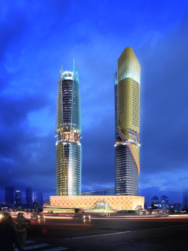 This new set of towers in Dubai will have its own indoor rainforest