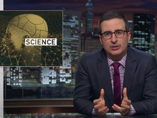 Watch John Oliver nail the reason that most news on scientific studies can't be trusted