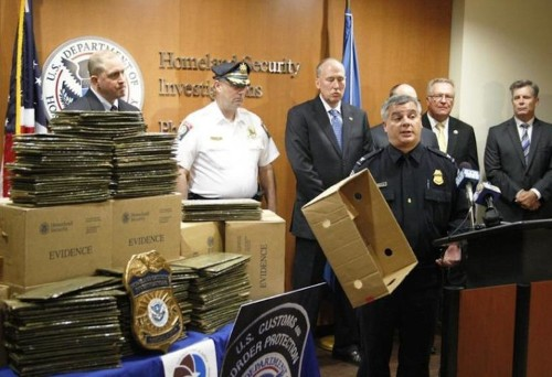 US authorities found $6 million worth of cocaine laminated on the inside of a box of pumpkins