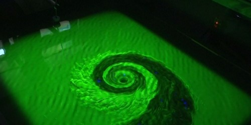 British scientists have recreated the conditions of a black hole using a giant bathtub and water dye