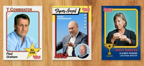 Trading cards of Silicon Valley's top VCs