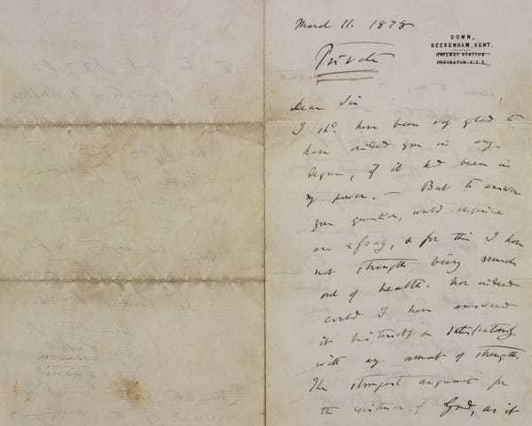 Letter from Charles Darwin doubting God goes up for auction - Business Insider