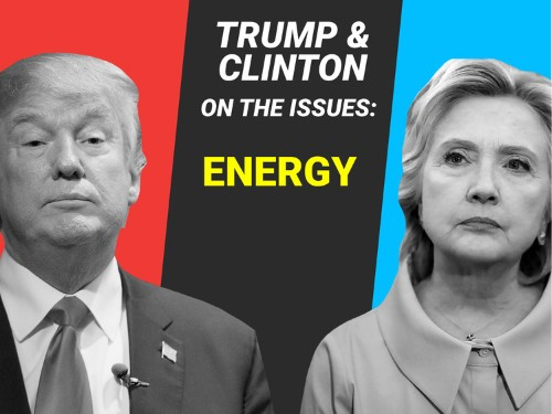 Here's where Hillary Clinton and Donald Trump stand on energy issues