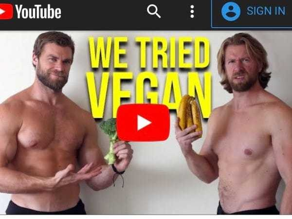 2 bodybuilders went vegan for a month and found the biggest downside was the gas - Business Insider