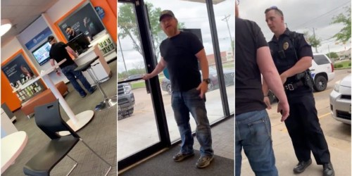A man in Texas was arrested after he was filmed calling an AT&T employee a 'f------ Arab' and said he had been 'killing his kind for almost 20 years'