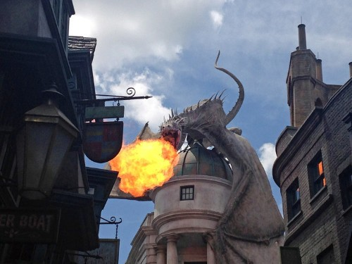 Every 10 Minutes A Fire-Breathing Dragon Startles Crowds In The New 'Harry Potter' Theme Park
