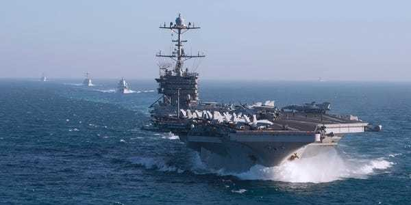 The US Navy brags that 7 aircraft carriers at sea - Business Insider