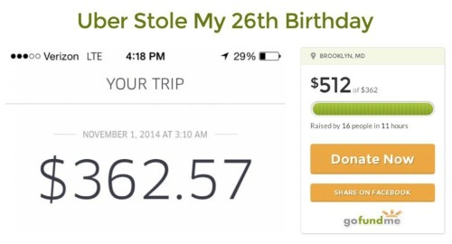 26-Year-Old Successfully Crowd Funds To Pay For Her $362 Halloween Uber Ride