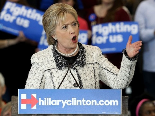 Hillary Clinton just called out Donald Trump in a triumphant victory speech
