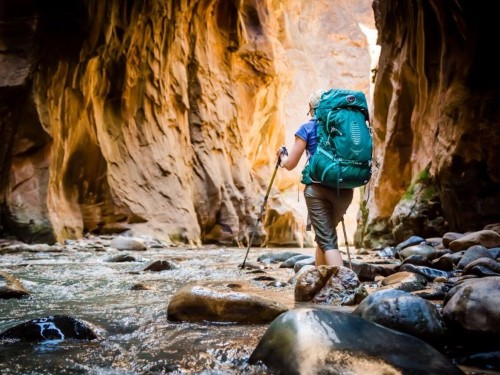 These backpacking packs are extremely popular among the outdoor community — thanks to an anti-gravity suspension system