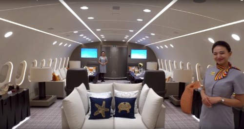 Step inside the world's only private Boeing 787 Dreamliner, the insanely luxurious one-of-a-kind plane that cost £230 million to make