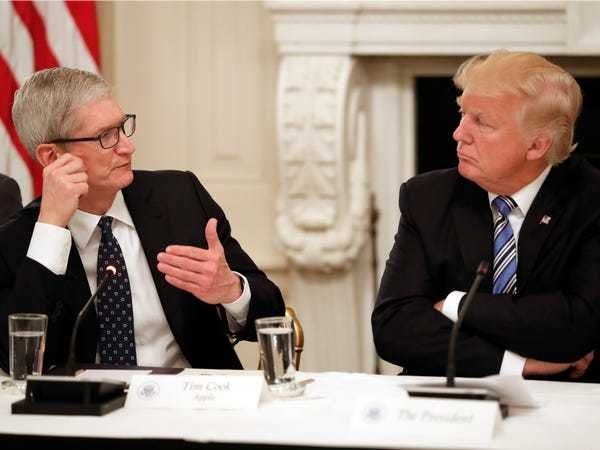 Apple readies legal fight with DOJ over unlocking iPhones, as Trump slams firm - Business Insider