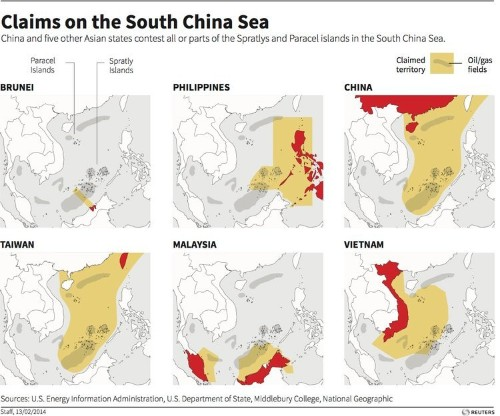 These Maps Show The Wildly Overlapping Territory Claims That Could Lead To Conflict In The South China Sea