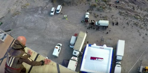 A stuntman did a 125-foot leap of faith for the 'Assassin's Creed' video game movie