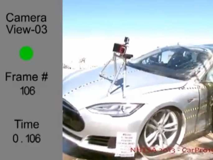 Watch The Tesla Model S Earn A Perfect Crash Safety Rating