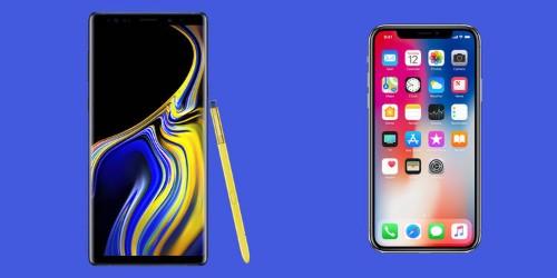 The $1,000 smartphone showdown: Samsung's new Galaxy Note 9 vs. Apple's iPhone X
