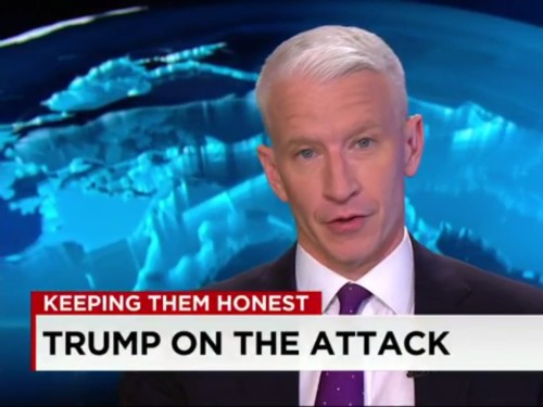 Anderson Cooper drops a hammer on Donald Trump after being accused of going easy on Hillary Clinton