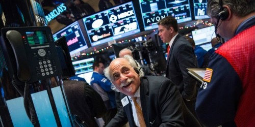 Stocks charge higher on trade progress and signs of government stimulus