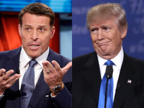 Tony Robbins used to work with Donald Trump — here's what he'd tell Trump on the phone today