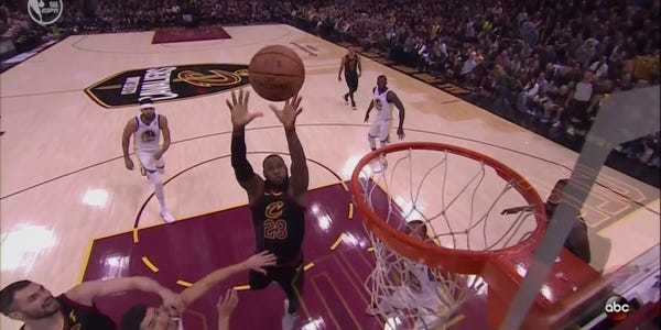 LeBron James threw an alley-oop pass to himself in the opening minutes of Game 3 - Business Insider