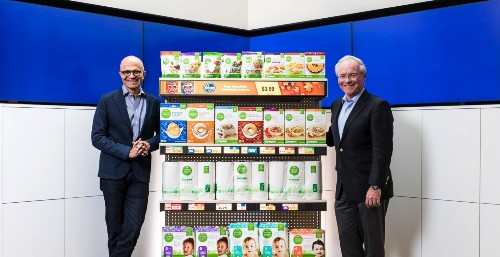 Kroger, Microsoft roll out digital shelf in threat to Amazon - Business Insider